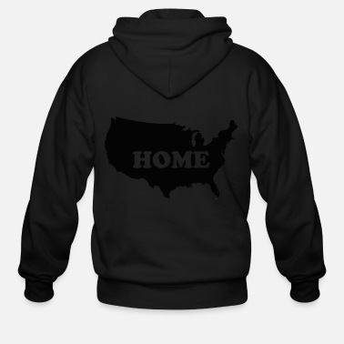 """Give me your tired, your poor....Welcome Home! - Men's Zip Hoodie"