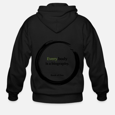 Fashion &amp Body Health amp Fitness Quote - Men's Zip Hoodie