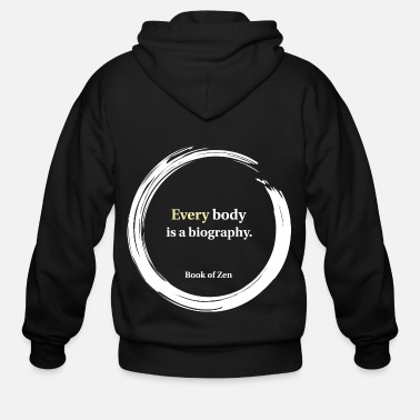 Fashion &amp Health Fitness amp Body Quote - Men's Zip Hoodie