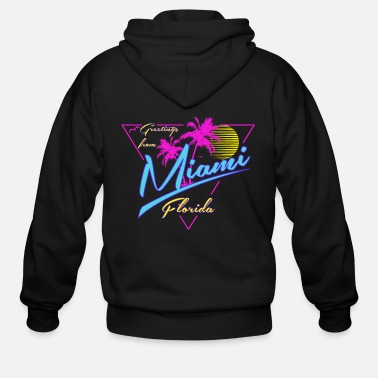 Miami Greetings From Miami tee shirts - Men's Zip Hoodie