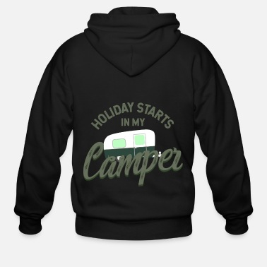 Camper vacation camper caravan - Men's Zip Hoodie