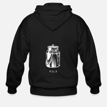 Breast Milk Milk - Men's Zip Hoodie