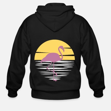 Summer Flamingo - Men's Zip Hoodie
