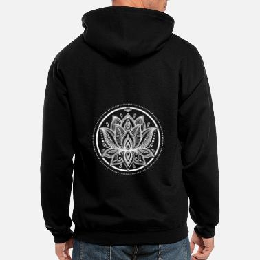 Lotus Lotus blossom gift yoga lotus flowers buddhism - Men's Zip Hoodie