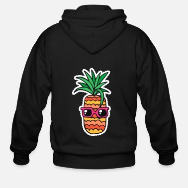 Sunglasses pineapple summer sunglasses - Men's Zip Hoodie