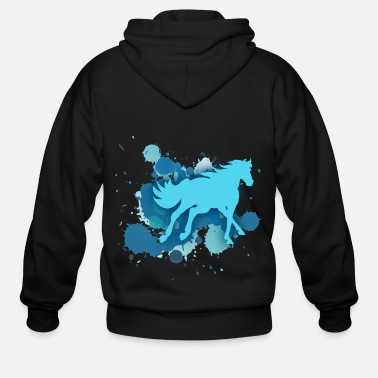 Horseman horse riding hobby - Men's Zip Hoodie