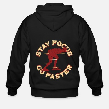 Winter Speed Skating Designs - Men's Zip Hoodie