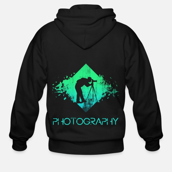 Photographer Hoodies & Sweatshirts - photographer - Men's Zip Hoodie black