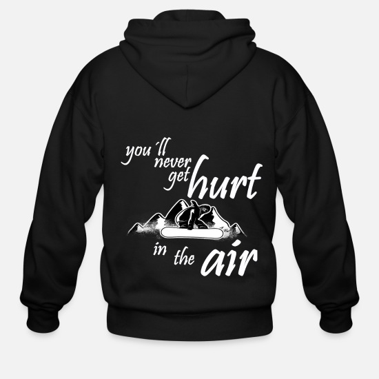 Ski Slope Hoodies & Sweatshirts - Snowboarding Saying Snowboard Vacation Winter - Men's Zip Hoodie black