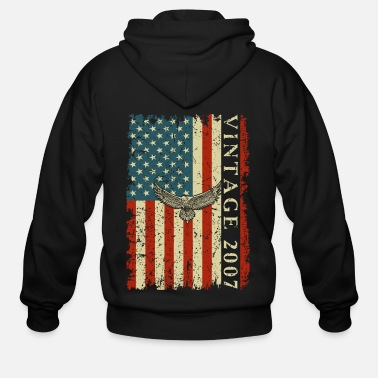 Usa 2007 13 Year Old Birthday Gifts For Men Funny US F - Men's Zip Hoodie