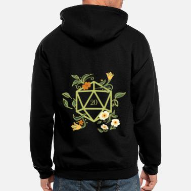 Rpg D20 Polyhedral Dice of the Druid Nature Lover RPG - Men's Zip Hoodie