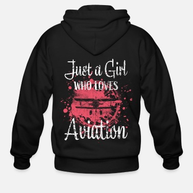 Model Airplane Girl - Men's Zip Hoodie