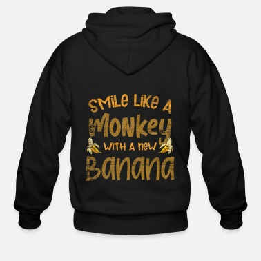 Chimpanzee Monkeys - Men's Zip Hoodie