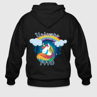 Unicorns are born in 1990 / Einhorn - Men's Zip Hoodie