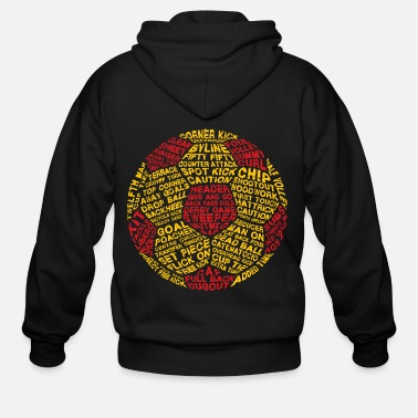 Serce Soccer Ball Typography - Men's Zip Hoodie