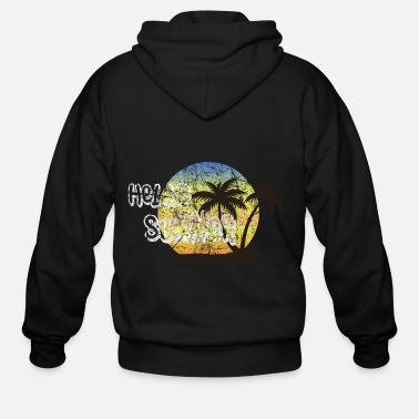 Palm Trees Tropical Tropics Palm Tree Gift Idea - Men's Zip Hoodie