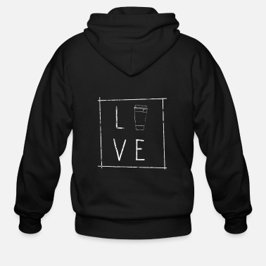 Addicted Coffee Caffeine Gift Idea - Men's Zip Hoodie