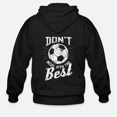 Wisdom Saying Soccer Gift - Men's Zip Hoodie