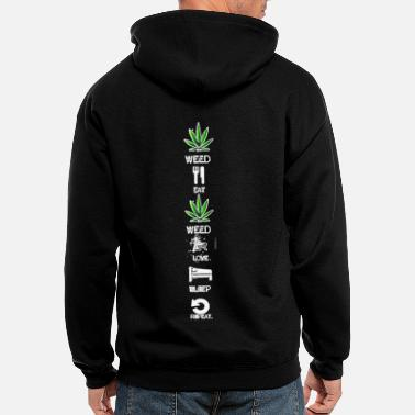 Weed Weed daily routine dayly - Men's Zip Hoodie
