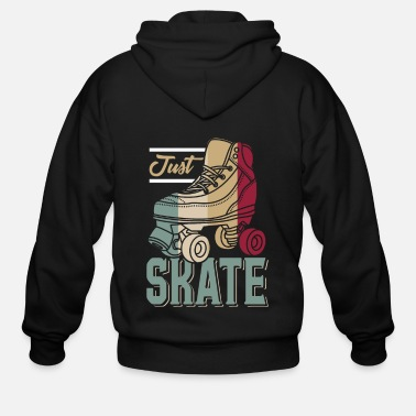 Roller Skating Just Skate - Roller Skating - Men's Zip Hoodie