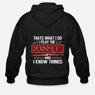 Band Bassoon Player Bassonist Wind Instrument Tenor - Men's Zip Hoodie