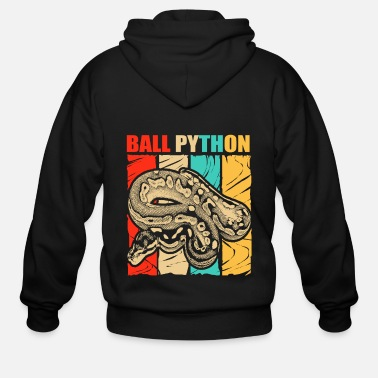South Ball Python Snake Reptile Boa Constrictor Venom - Men's Zip Hoodie