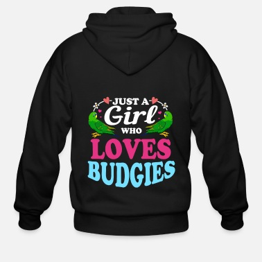 Bird Budgerigar Budgie Plumage Bird Feather Breeder Pet - Men's Zip Hoodie