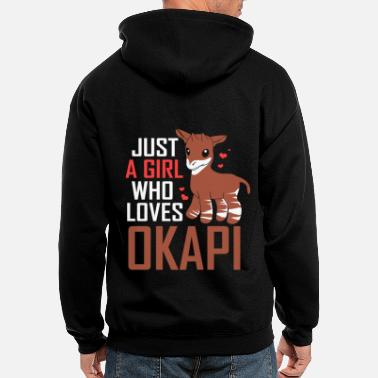 Congolese Girlfriend Okapi Forest Giraffe Serengeti Africa Safari - Men's Zip Hoodie