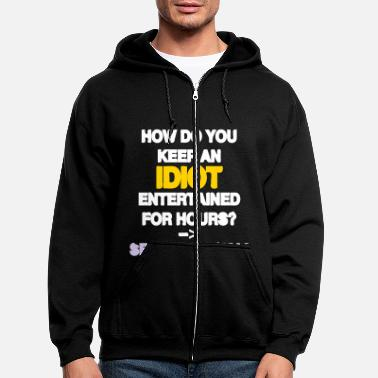Comic How to keep an Idiot Entertained - Men's Zip Hoodie
