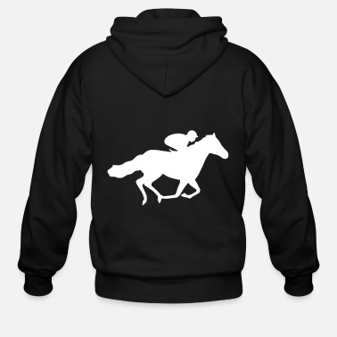 Horse Racing Race Horse - Men's Zip Hoodie