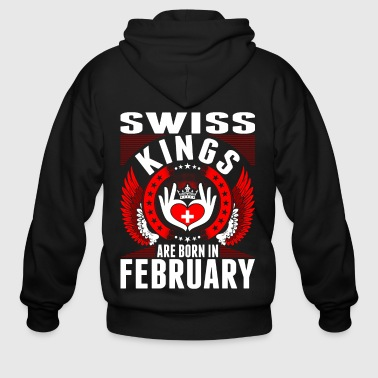 February Swiss Kings Are Born In February - Men's Zip Hoodie