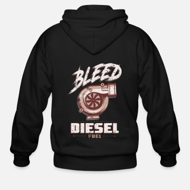4x4 Bleed Diesel Fuel Diesel Truck 4X4 Power Offroad - Men's Zip Hoodie