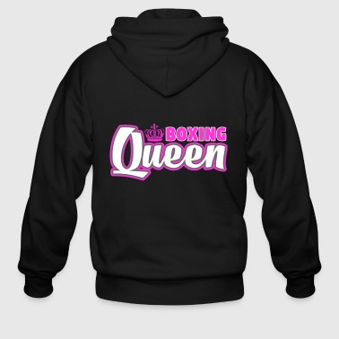 Boxing Queen Combat Martial Arts Training - Men's Zip Hoodie