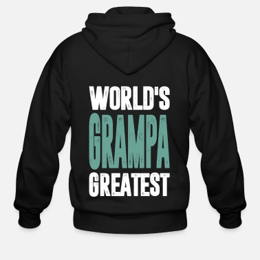 World's Grampa Greatest - Men's Zip Hoodie