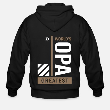 World's Opa Greatest - Men's Zip Hoodie