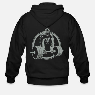 Gorilla Gorilla Lifting Fitness - Men's Zip Hoodie