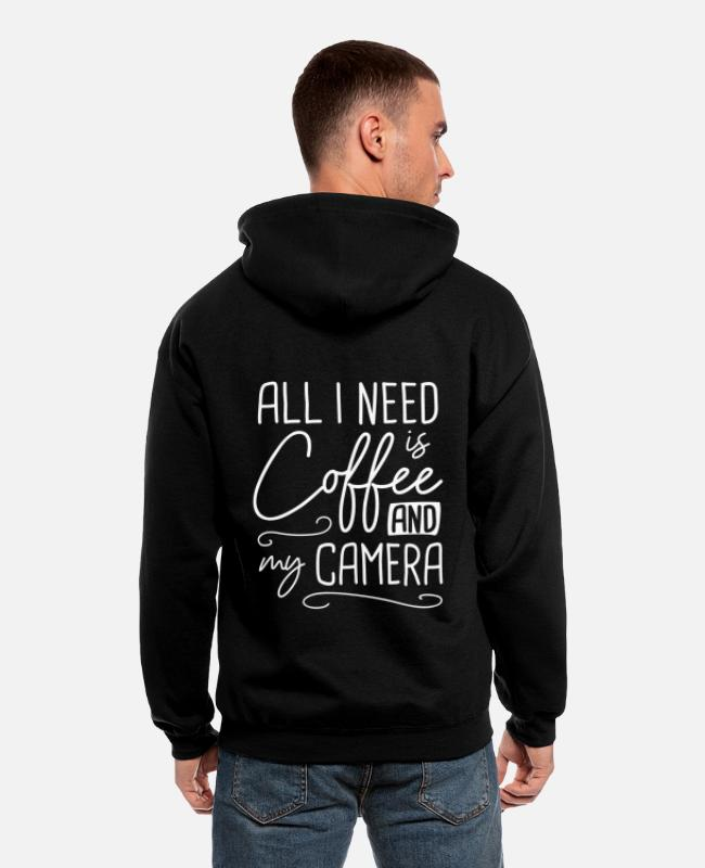 Need Hoodies & Sweatshirts - Photographer, Camera, Taking Pictures - Men's Zip Hoodie black