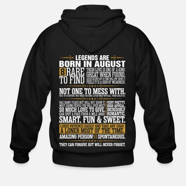 August 8 Rare To Find Legends Are Born In August - Men's Zip Hoodie