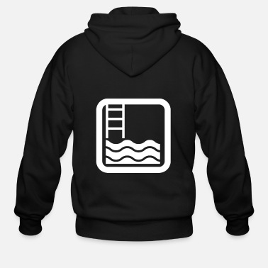 Swimming Instructor Swimming pool swimming instructor - Men's Zip Hoodie