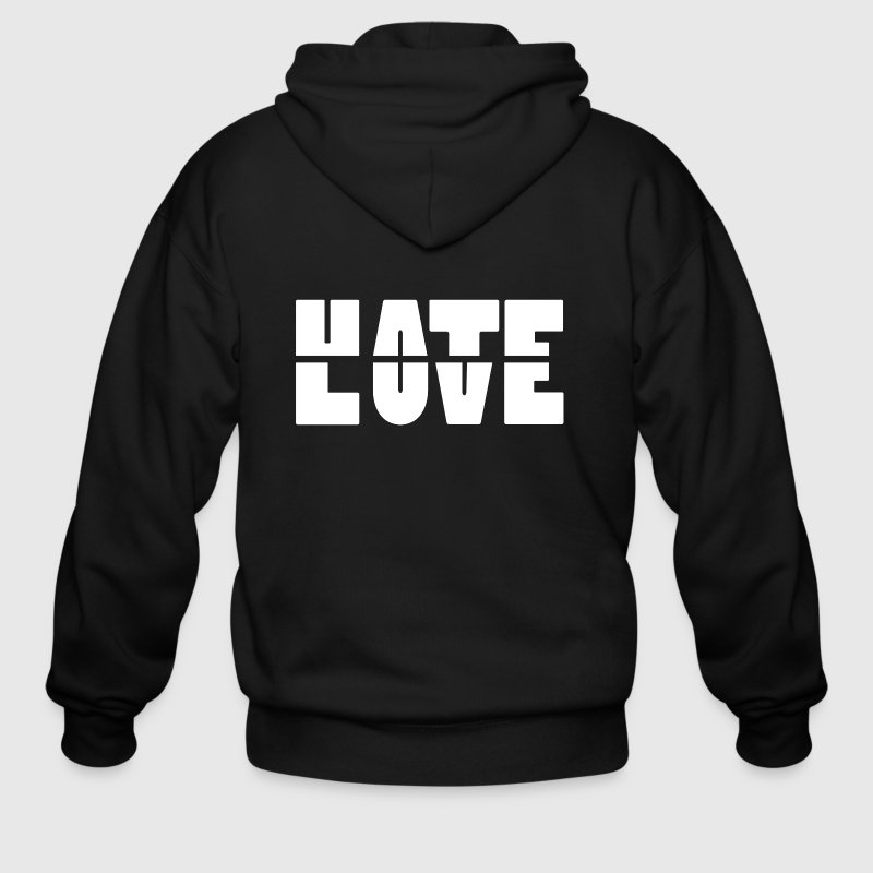 Hate Love - Men's Zip Hoodie