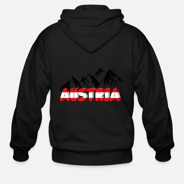 Austria Austria and mountains - Men's Zip Hoodie