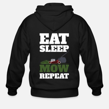 Meadow Mow Eat Sleep Repeat - Men's Zip Hoodie