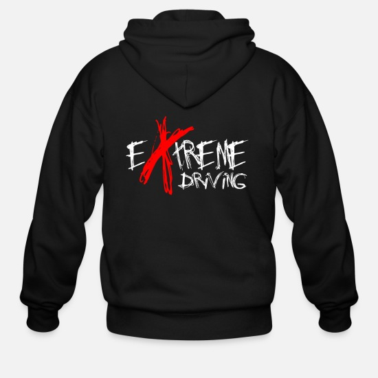 Birthday Hoodies & Sweatshirts - Extreme Driving - Men's Zip Hoodie black