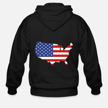 America United States of America - Men's Zip Hoodie