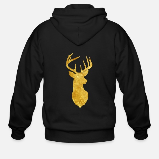 Sleigh Hoodies & Sweatshirts - Reindeer Christmas Pajama Family Matching print - Men's Zip Hoodie black