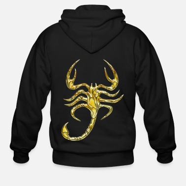 Gold Scorpion gold - Men's Zip Hoodie