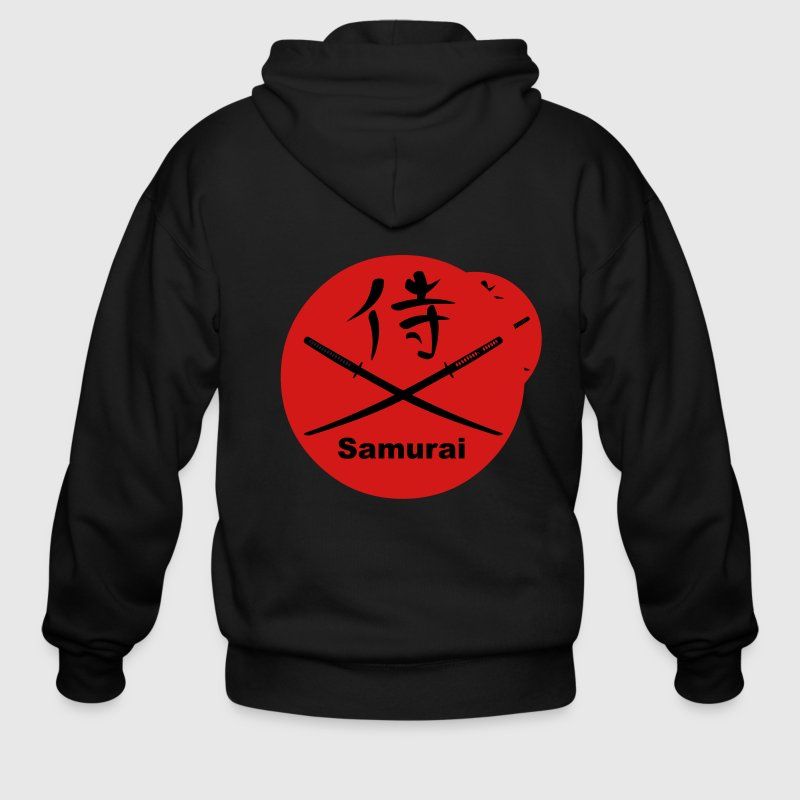 Japanese Katana and Kanji for Samurai - Men's Zip Hoodie