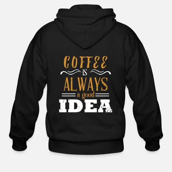 Late Risers Hoodies & Sweatshirts - Coffee early riser late riser caffeine cup - Men's Zip Hoodie black
