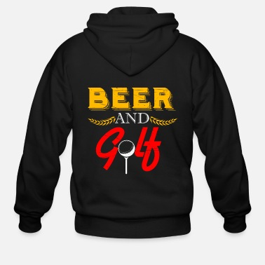 Checkered Golf Beer Sport Handicap Hobby Game Racket Idea - Men's Zip Hoodie