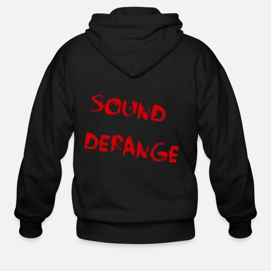 Sound System Hoodies & Sweatshirts - Sound Derange - Men's Zip Hoodie black